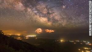 Milky Way above Lake Korission.
