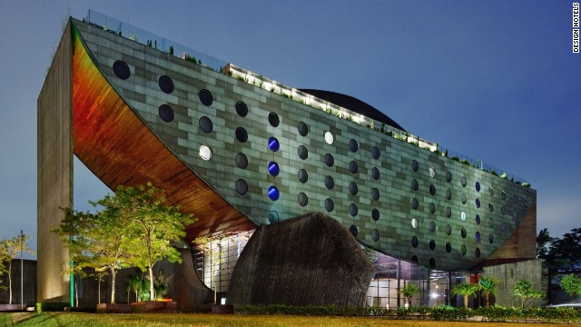 The Unique Hotel in Sao Paulo is said to resemble a boat, or watermelon.