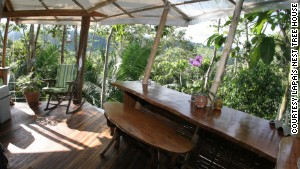 Breakfast comes with a bird\'s eye view at the Lapa\'s Nest Tree House in Costa Rica.