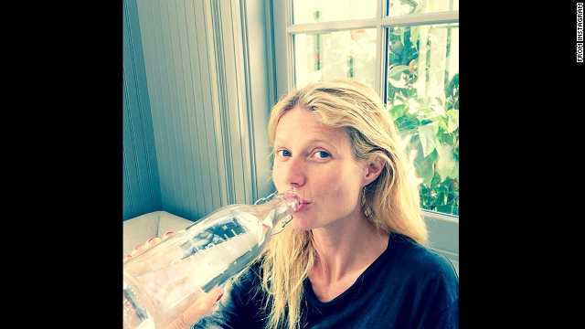 Gwyneth Paltrow also posted an Instagram picture of herself sans makeup in March.