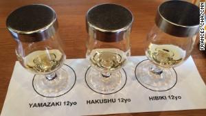 Yamazaki\'s free tasting samples.