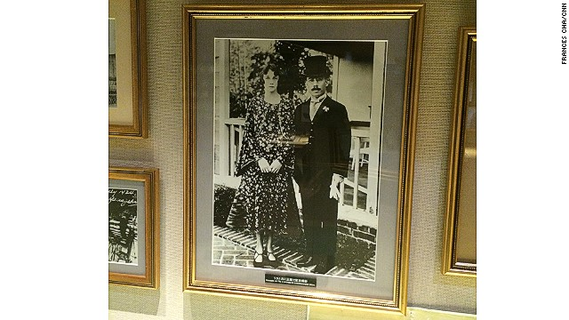 "Rita followed her husband from Scotland to Japan in 1920. The caption on this display at Yoichi reads: ""While Taketsuru was there, he met a woman who had large expressive eyes. This woman was Rita Cowan and after several meetings they fell in love."""