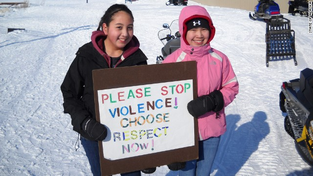 Young people in Selawik, Alaska, participate in a 2011
