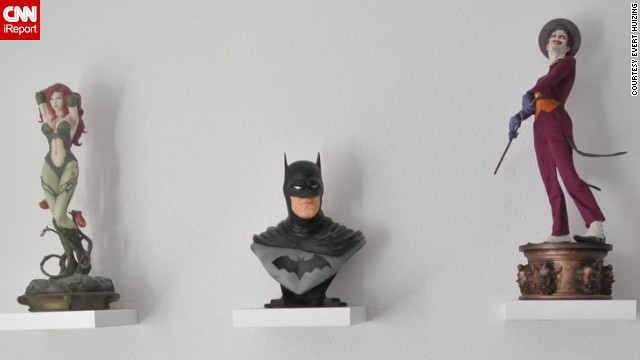 """Like so many Batman fans, Huizing says he can identify with the character, who has no real superpowers. """"I still can't handle injustice, and I always would like to be Batman when I see injustice happen."""""""