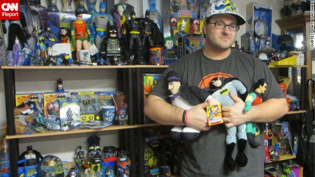 <a href='http://ireport.cnn.com/docs/DOC-1111493'>Matt MacNabb</a> of Omaha, Nebraska, runs the fan site <a href='http://www.legionsofgotham.org' target='_blank'>legionsofgotham.org</a>. He is one of many Batman fans who collect all the Batman memorabilia they can get their hands on. With the popular comic book character's 75th birthday on Sunday, click through to take a look at some of these Bat-fans and their collections: