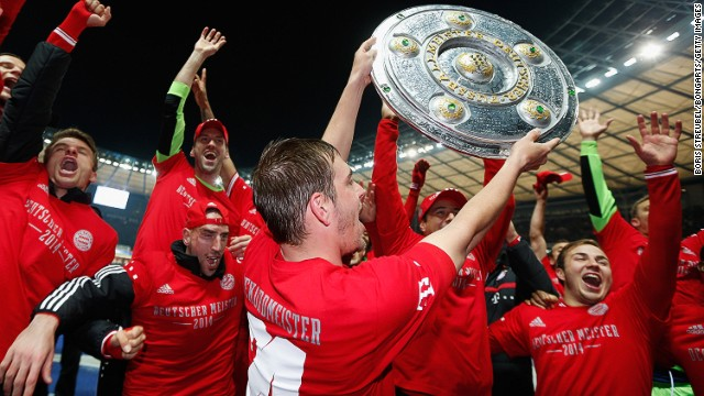 Unbeatable Bayern clinch 24th Bundesliga title