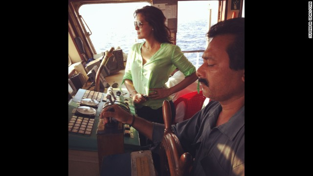 """That's me on board the Ranichang in the Andaman sea, where India launched its search efforts for the missing Malaysian Airlines Flight 370."" By CNN's Sumnima Udas, March 16. Follow Sumnima on Instagram at instagram.com/sumnimaudas."