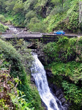 You'll spot rainforests, waterfalls and tropical flowers blooming on the Hana Highway in Hawaii.
