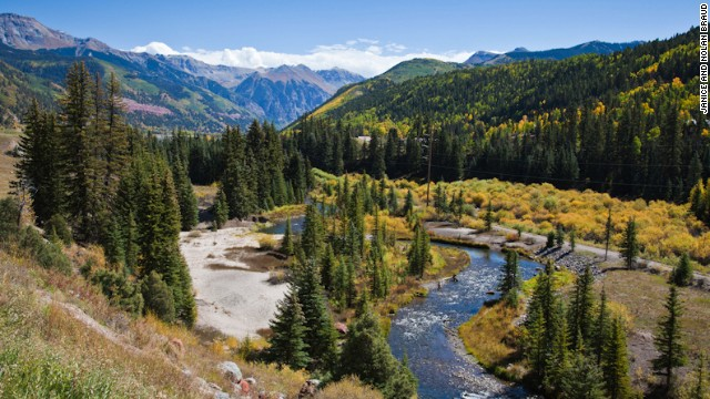 The stretch of the San Juan Skyway between the towns of Ouray and Silverton is called the Million Dollar Highway, referring to the silver and gold once carted through those Colorado passes.