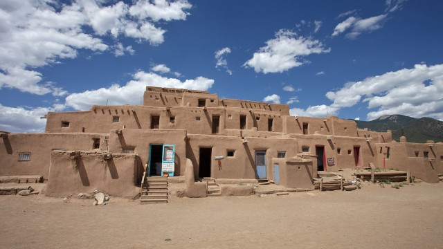 The Santa Fe/Taos Loop in New Mexico will take you to the <a href='http://www.taospueblo.com' target='_blank'>Taos Pueblo</a> compound, built before 1400 and one of the oldest continuously inhabited communities in America.