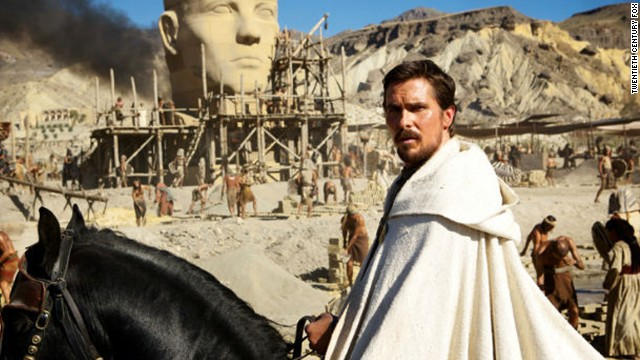 Christian Bale plays Moses in an upcoming film version of the Book of Exodus directed by Ridley Scott.