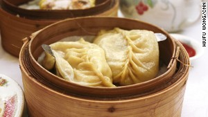 Gun tong gaau -- large, steamed soup dumplings.