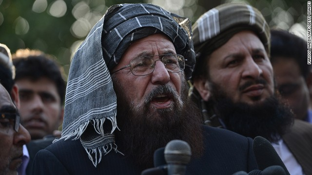 Maulana Sami ul Haq, a negotiator for the TTP, in Islamabad on March 22, 2014.
