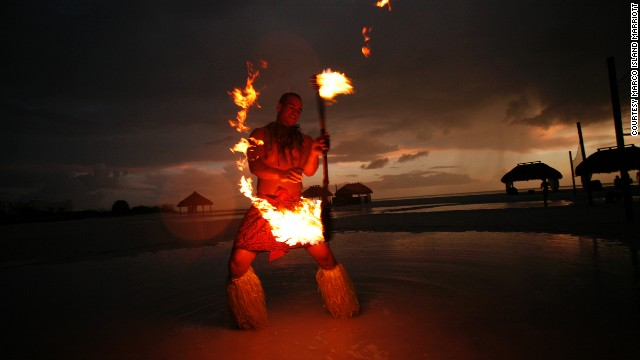 Polynesian dancing is part of the evening tradition at Marco Island Marriott Beach Resort, Golf Club & Spa in Florida.