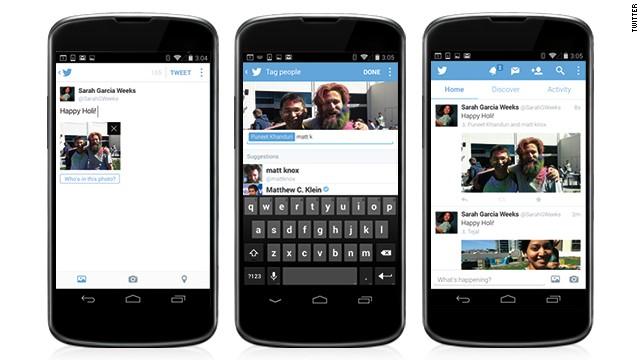 Ahora podrás etiquetar a tus amigos en las fotos de Twitter