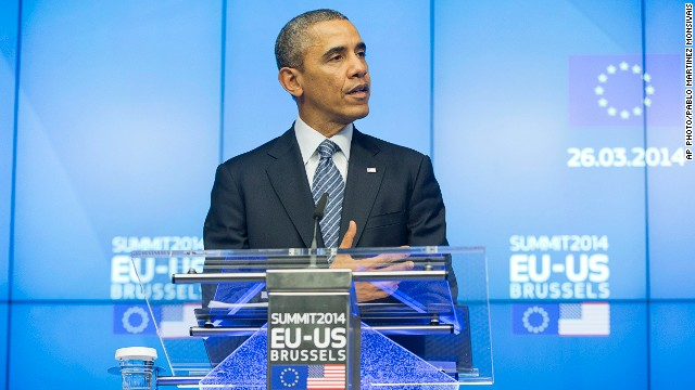 """Obama: EE.UU. y la Unión Europea unen esfuerzos para """"aislar"""" a Rusia"""