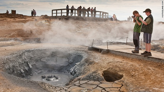 Iceland's volcanic landscape is a raging source of unusual sounds, and noxious fumes. <a href='http://www.youtube.com/watch?v=xH8CDS_fyDc' target='_blank'>Hear Hverir's bubbling mud pots here</a>.