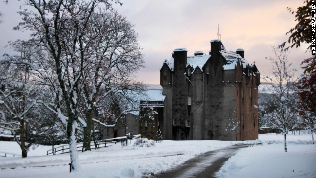 Crathes Castle dates to the 16th century and has ties to Scottish warrior-king Robert the Bruce. it also has its share of ghost stories. <!-- --> </br>