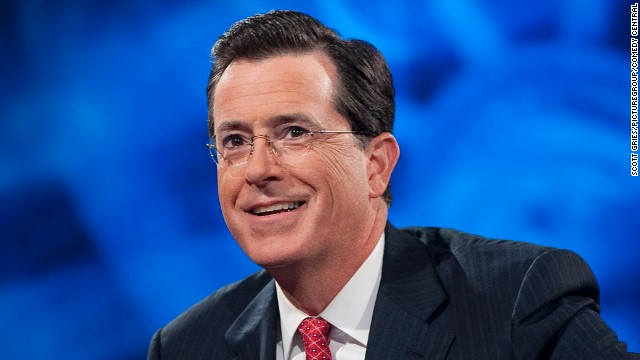 Stephen Colbert is taking heat for a tweet he says he didn't send.