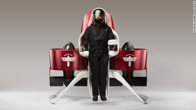 "Introducing the ""Martin Jetpack,"" the brainchild of New Zealand inventor Glenn Martin."
