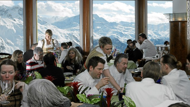 The prices are as steep as the mountains at La Marmite, which calls itself the highest gourmet restaurant in the Alps.
