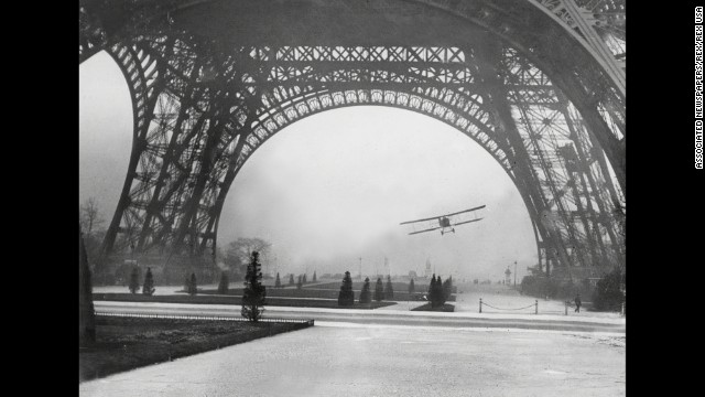Leon Collet, a French airman, was killed in 1926 after flying through the base of the Eiffel Tower. His plane crashed and burned after colliding with cables from a radio antenna.
