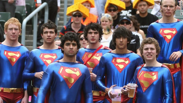 The annual three-day Hong Kong tournament is as famous for <a href='http://edition.cnn.com/2014/03/27/sport/hong-kong-sevens-fact-and-figures/'>the fun and games in the stands</a>, where costume competition pushes fancy dress sales up by 40% in the run up to the event.