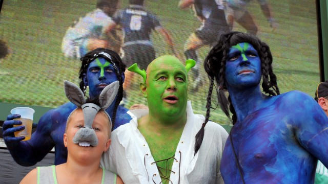 Welcome to Hong Kong, where<a href='http://edition.cnn.com/2013/12/19/sport/sevens-heaven-rugby-for-cowboys/index.html'> the battle to create the greatest costume</a> is almost as fierce as the action on the pitch in the HSBC Sevens World Series. The awesome, the awful, and the slightly disturbing: it's all here...