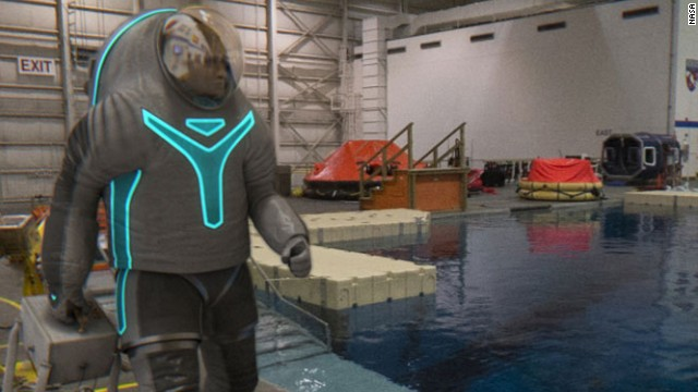"""Fish out of water!"" Just because you are wearing the ""Technology"" spacesuit doesn't mean you can cheat at Marco Polo."