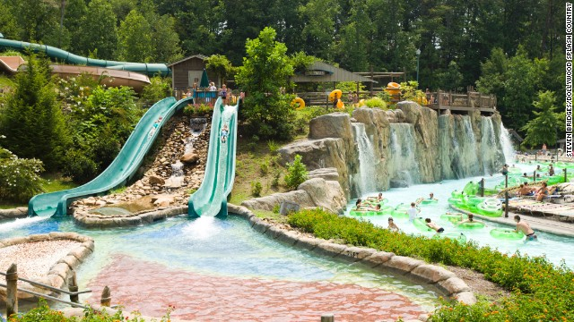 <a href='http://www.dollywood.com/waterpark.aspx' target='_blank'>Dollywood Splash Country</a> in Pigeon Forge, Tennessee, ranks fourth on the list. The park features nearly two dozen water slides and rides.