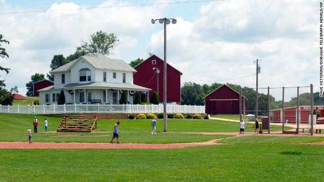 "Of course the ""Field of Dreams"" baseball field in rural Dyersville, Iowa, is famous for a movie, not a real baseball team. But what a dream it would be to run the bases and play catch on the Iowa baseball diamond where it was filmed."