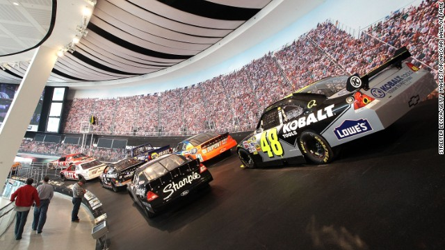 The NASCAR Hall of Fame in North Carolina combines exhibits on racing's greats with fun, interactive exhibits. The Richard Petty Museum presents the racing legend's accomplishments alongside his collections of dolls, pocket watches and guns.