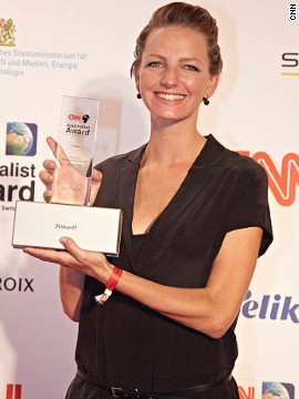 "Jenny Marrenback was honored for best Radio piece at the 2014 CNN Journalist Awards in Munich, Germany. Judges praised her report for showcasing ""the other side of the coin in the NGO business."""
