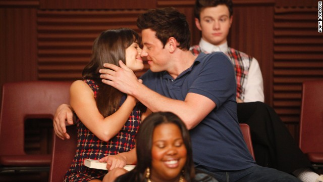 """Glee"" co-stars Lea Michele and Cory Monteith had been dating for more than a year when he passed away in July 2013. Here, the real-life and on-screen couple appear in the third-season premiere of the hit Fox musical comedy-drama series."