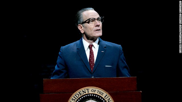 Bryan Cranston stars as President Lyndon B. Johnson in the Broadway play