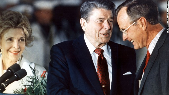 Bush was Ronald Reagan's vice president from 1981 to 1989.