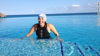Woman tackles world's longest triathlon
