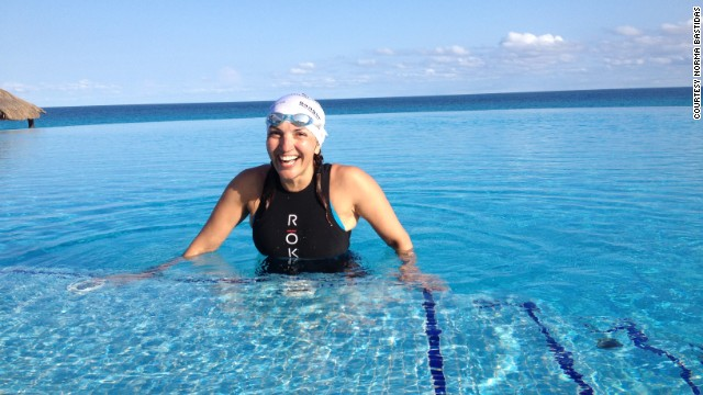 Norma Bastidas, 47, is attempting to break the record for the world's longest triathlon. In her journey from Cancun, Mexico, to Washington, Bastidas will swim 95 miles ...