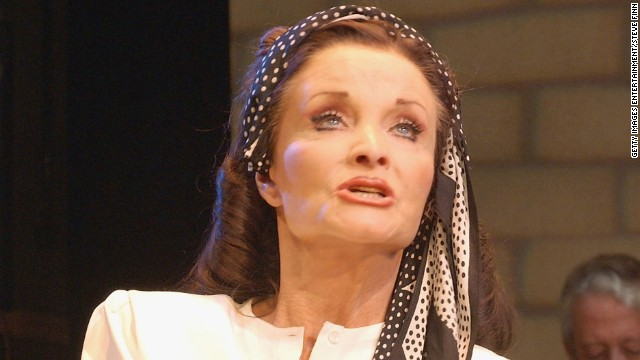 Kate O'Mara performs in a 2004 production of