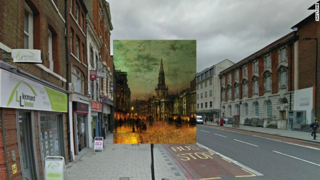 Borough High Street in Southwark, one of the oldest parts of London, was once known as Blackman Street, and was immortalized in this painting by John Atkinson Grimshaw in 1885.