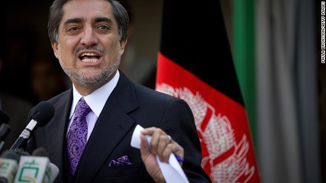 Abdullah Abdullah (shown in 2009) tweeted about the runoff election: