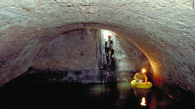 Deep beneath the Duomo cathedral lies a maze of underground galleries, some dating to the 4th century. Milan's secret underworld also houses aqueducts (pictured) that date back centuries.