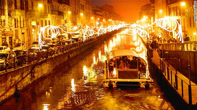 The canal-side bars and restaurants of Milan's Navigli district are the places to go at night. This is the city's most stylish district, the heart of Milan's party scene, where the young and effortlessly cool hang out.
