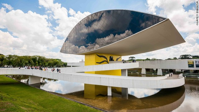 "Oscar Niemeyer Museum Oscar Neimeyer was 95 years old when he completed the Museum of the Eye. The museum focuses on art, architecture and design. Popularly known as ""The Eye,"" the tower has four floors of exhibition space. Oscar Niemeyer Museum, Rua Marechal Hermes, 999, Curitiba, Paraná; +55 41 3350 4400; Tuesday-Sunday 10 a.m.-6 p.m.; $2.70 per adult, $1.40 per student, free admission for children under 12 MORE: Sex motels get busy for Brazil World Cup"