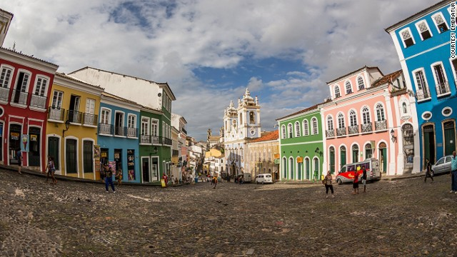 Pelourinho Pelourinho is the historic center of the city of Salvador in Bahia state. Its photogenic streets feature brightly colored buildings, many with stucco facades. The colonial city is a convergence of European, African and indigenous cultures. More info: www.visitbrasil.com MORE: Brazil love motel for pets opens doors