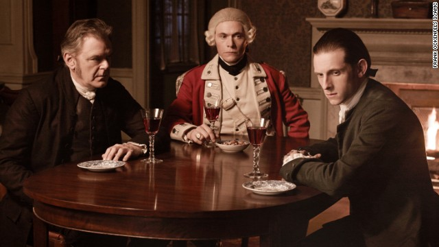 """Turn"" dramatizes the story of America's first spy ring during the Revolutionary War. Jamie Bell, right, stars as Abe Woodhull, a farmer who helps to form a team of secret agents aiding George Washington. The show has been renewed for a second season on AMC."