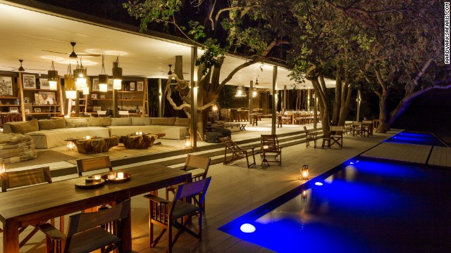 Chinzombo's six villas each have private dining areas, lounges, libraries and tree-shaded pools with viewing decks. The camp is surrounded by 60 acres of private land.
