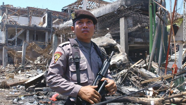 The 2002 Bali bombings occurred on October 12, in the tourist district of Kuta on the Indonesian island.