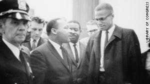 Martin Luther King Jr. and Malcolm X met briefly once as the Civil Rights Act of 1964 was being debated in Washington.