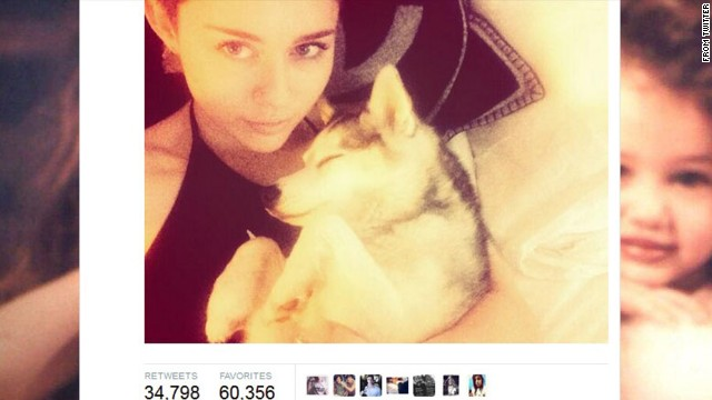 "Tragedy struck in early April with the death of the singer's favorite pooch, Floyd. <a href='http://marquee.blogs.cnn.com/2014/04/02/miley-cyrus-miserable-day-and-more-news-to-note/'>Cyrus tweeted to her Boston fans</a> in advance of her concert there that she was ""beyond miserable."" The gift of a new dog from her mother apparently did little to console her, as Cyrus later tweeted that she gave the new dog away to a friend."